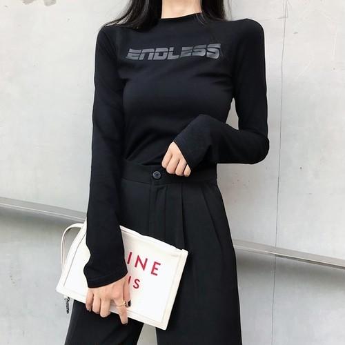 レタリングロングTシャツ ZRD5368