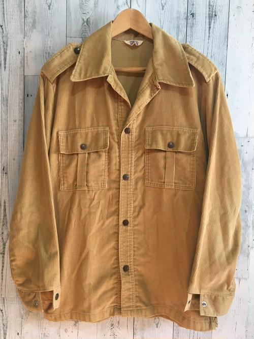 アメリカ製ビンテージBIGSMITHビッグスミス コーデュロイシャツジャケット サファリブッシュ