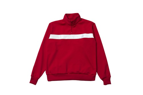 "EZ DO by EACHTIME. ""NIGHT CRUISING JERSEY TOP""  RED"