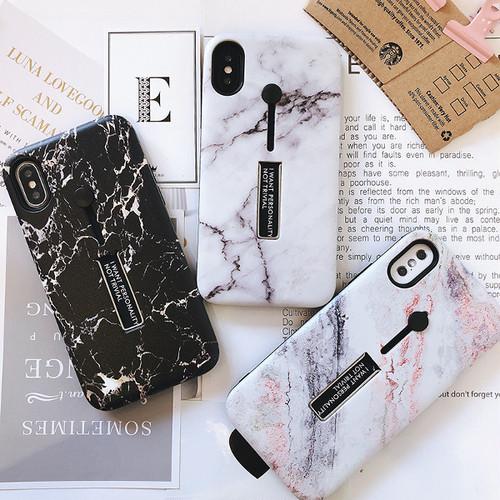 【即日発送】大理石風 リング スタンド付き iPhoneケース i9012