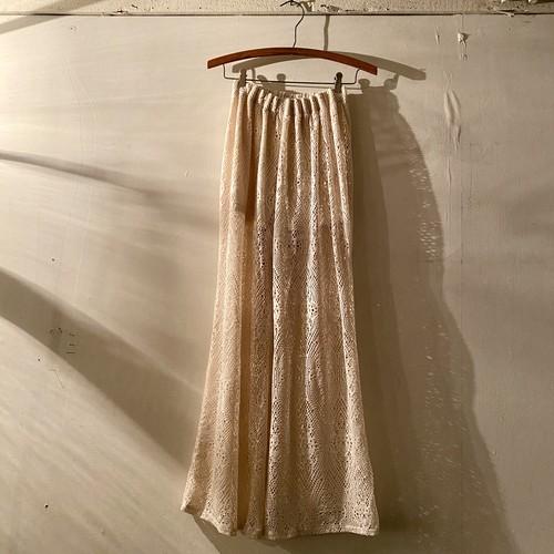 Lace flare pants