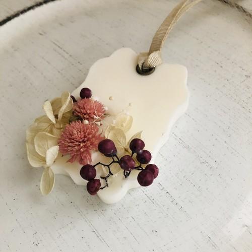 アロマワックスサシェ  ピンク千日紅 プルメリアの香り