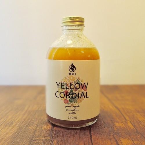 手作りハーブコーディアル YELLOW CORDIAL【パイナップル かぼちゃ ネトル】250ml
