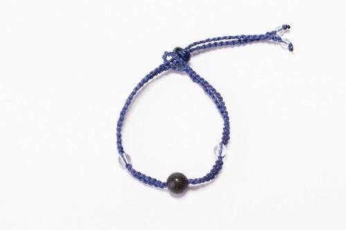 富士山溶岩ブレスレット[Lava Bracelet]〜 ブルー 〜