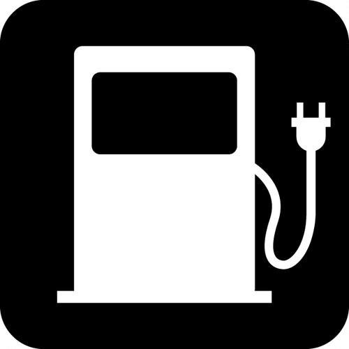 電気自動車の充電スポット案内マークのカッティングシートステッカー