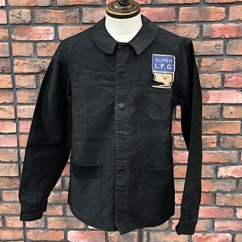 1950s French Work Jacket Super L.P.G. Deadstock  Black