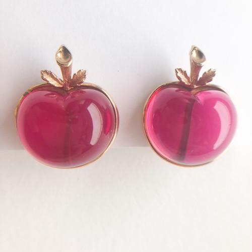 """Sarah Coventry"" Burgundy earring[e-1336] ヴィンテージイヤリング"