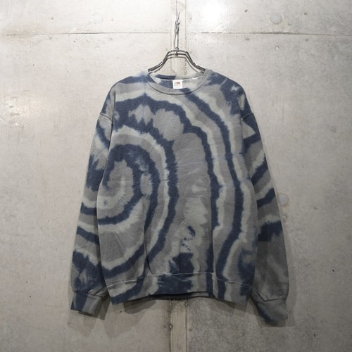 FRUIT OF THE LOOM TIE DYED CREWNECK / BLACK