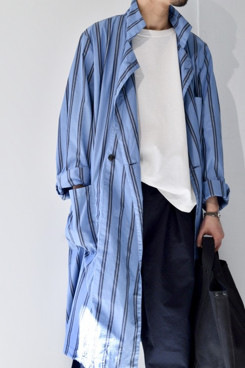 【ORDINARY FITS】STORE COAT stripe/OF-T009S