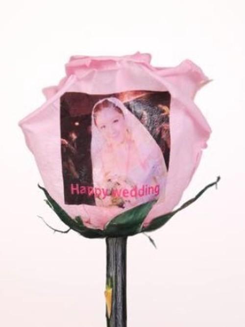 【メッセージ&写真プリントフラワー】花びらにメッセージと写真をプリントするお花のギフト