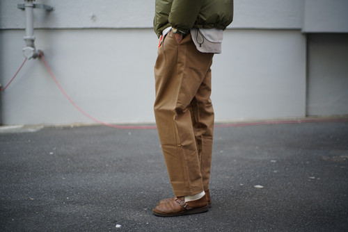 LAMOND / DOUBLE WEAVE WIDE TAPERED TROUSERS