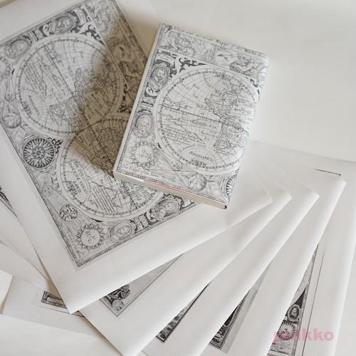 紙製ブックカバー 古地図