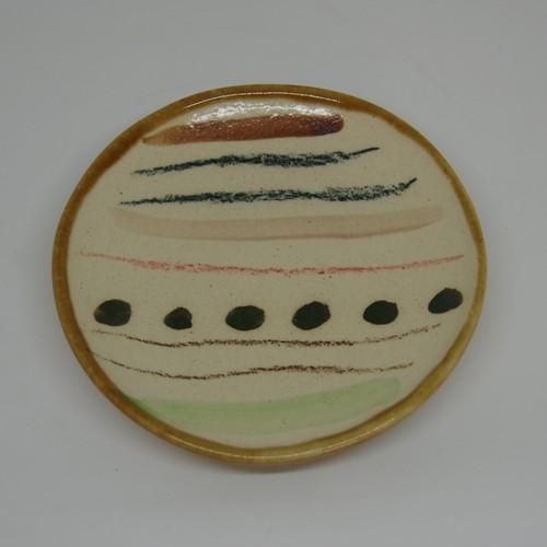 やちむん【土工房陶糸】4寸皿