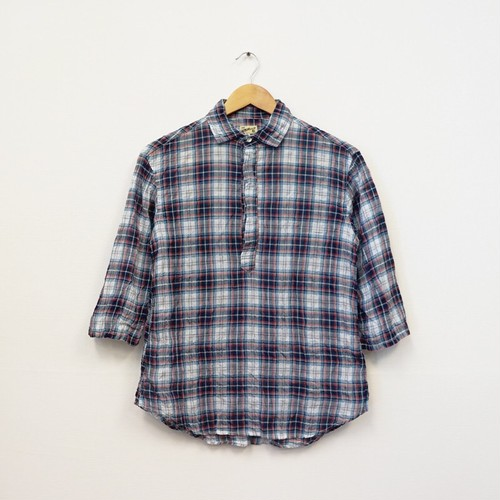 2/3 SLEEVE SHIRT PULLOVER (80LAWN BLUE)