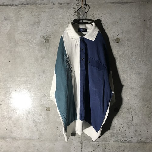 [used] three tone designed pullover