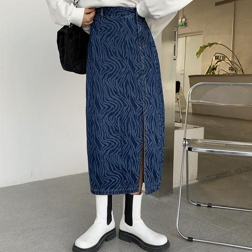 ユニークデザインスリットトングスカート #RD7511