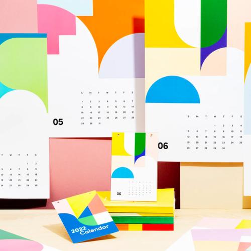 "Poketo ""2022 Wall Art Calendar"" 2022年アートカレンダー43.2 cm x 27.9 cm"