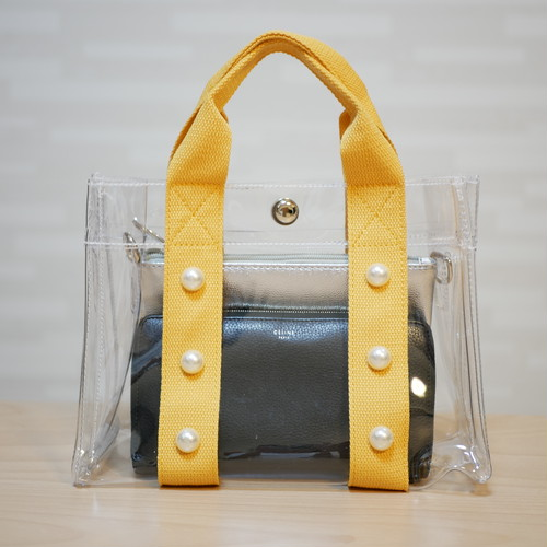 pvc Perl bag yellow