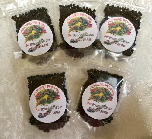 数量限定!お得なポンペイ・ブラックペッパー 5袋セット 無農薬・無化学肥料 (Black pepper) 5袋セット