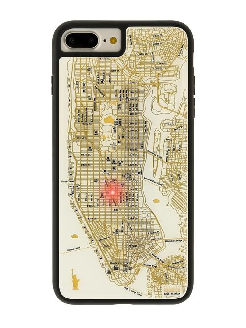 FLASH NY回路地図 iPhone7/8 Plusケース 白【東京回路線図A5クリアファイルをプレゼント】