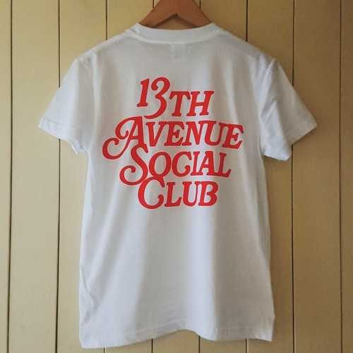 13th Avenue Social Club T-shirts col.wht