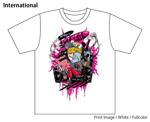 [White / Fullcolor] Collaborative T-shirt by Kazutaka Kodaka (Tookyo Games) and jbstyle.