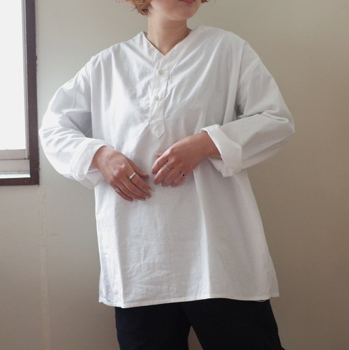 70-80s ロシア軍 スリーピングシャツ サマー ヘンリーネック