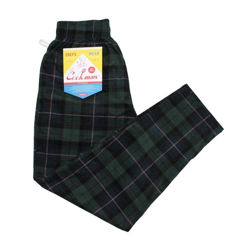 COOKMAN Chef Pants 「Corduroy Tartan」 GREEN