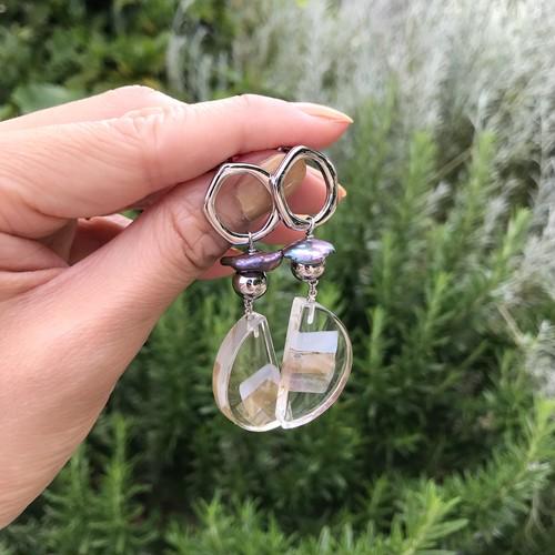 【ピアス】Silver clear parts pierce