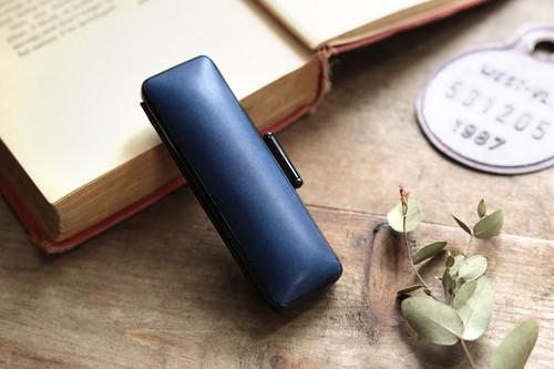 藍染革 13.5mm径 印鑑ケース