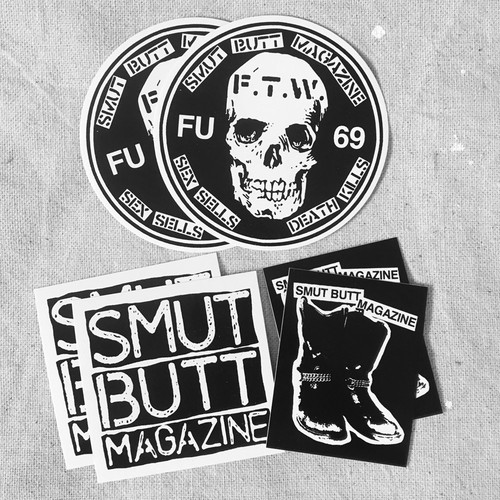 SMUT BUTT MAGAZINE STICKER PACK #02 by Gorgeous George