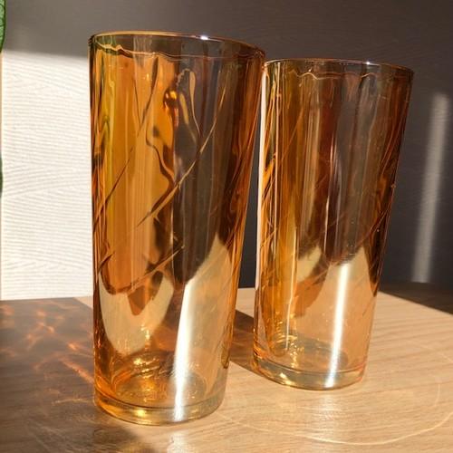 ジャネットグラス カーニバル グラス タンブラー 大 2客