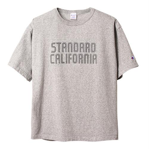 STANDARD CALIFORNIA ×CHAMPION  スタンダードカリフォルニア×チャンピオン T1011 Tシャツ グレー