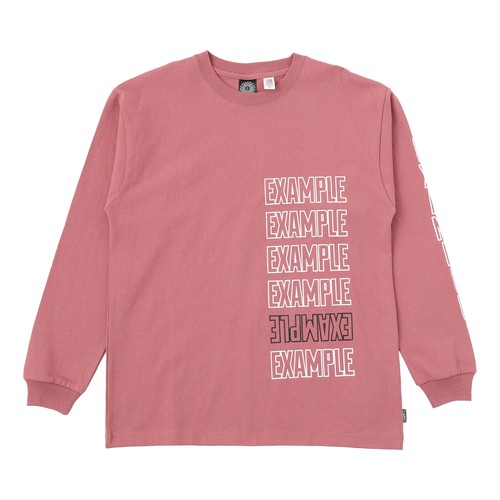 EXAMPLE 6LOGO L/S TEE / PINK