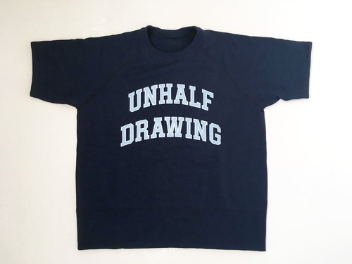 UNHALFDRAWING / SHORT SLEEVE SWEAT(Callege LOGO)