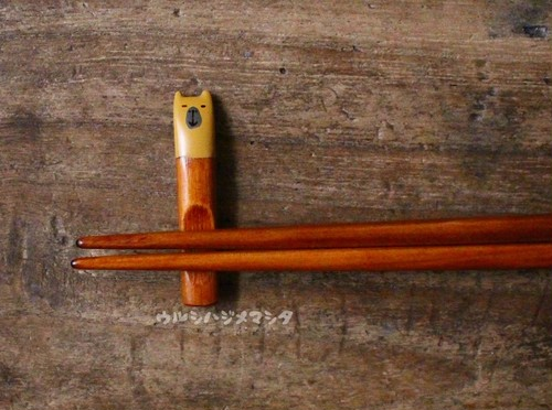 拭き漆の箸置き(カピバラ)/URUSHI CHOPSTICK REST(CAPYBARA)