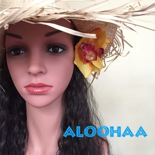 ラウハラハット タヒチアン・フラ衣装用帽子 アレンジ