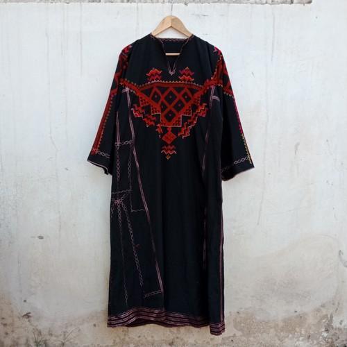 Vintage パレスチナ マキシの刺繍ベドウィン族ワンピース
