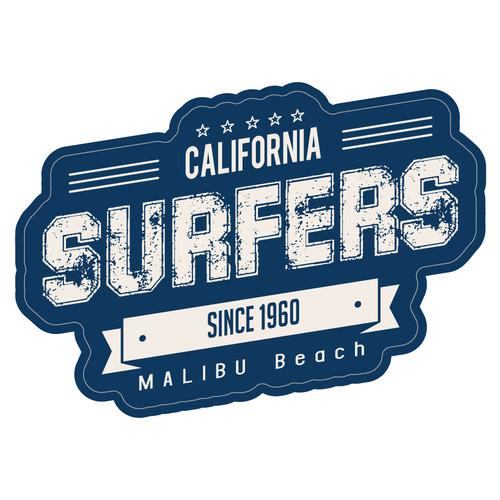 "215 SURFERS MALIBU Beach ""California Market Center"" アメリカンステッカー スーツケース シール"