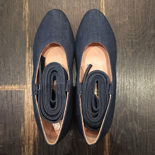 WORLDS END Denim Rocking Horse Shoes Ballerina