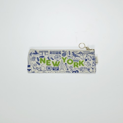 MAP TOTE Pencil Pouch NYC  Natural