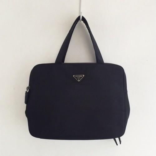 PRADA nylon travel pouch & hand bag
