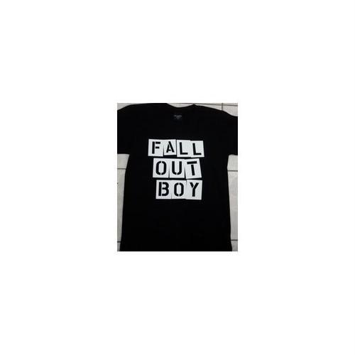 フォール・アウト・ボーイ Fall Out Boy バンドロゴ プリントTシャツ