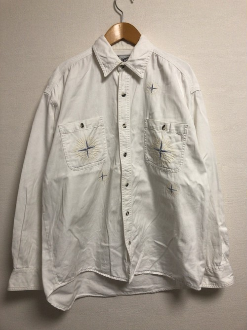 90's western embroidery shirt