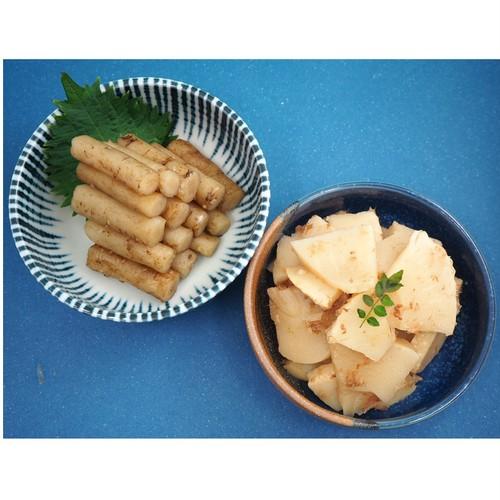 ◆ゆうパケット送料無料◆たたきごぼうとたけのこ土佐煮〔2種×各1〕カネハツ 大容量 お惣菜 メーカー直送
