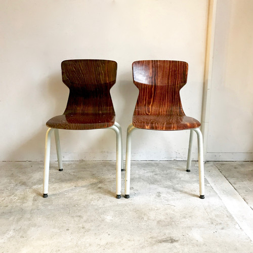 """""""eromes"""" Stacking School Chair 60's オランダ / S size"""