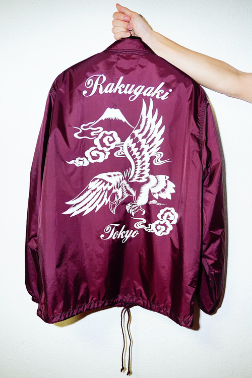 "[予約商品]RAKUGAKI ""BLACK HAWK"" Coach Jacket Burgundy"