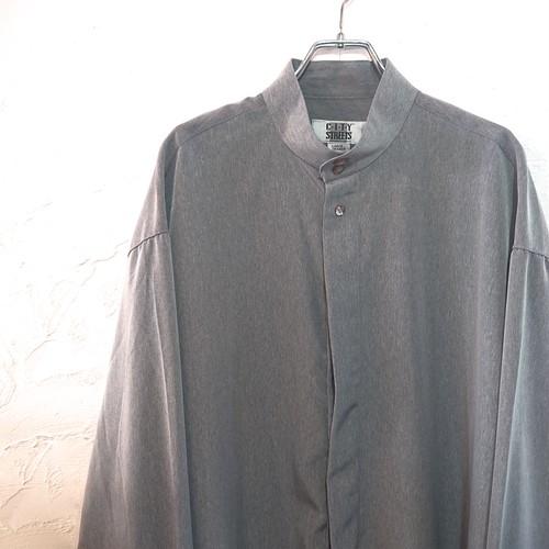 【USED】JCPenny バンドカラー シャツ 杢グレー デッドストック