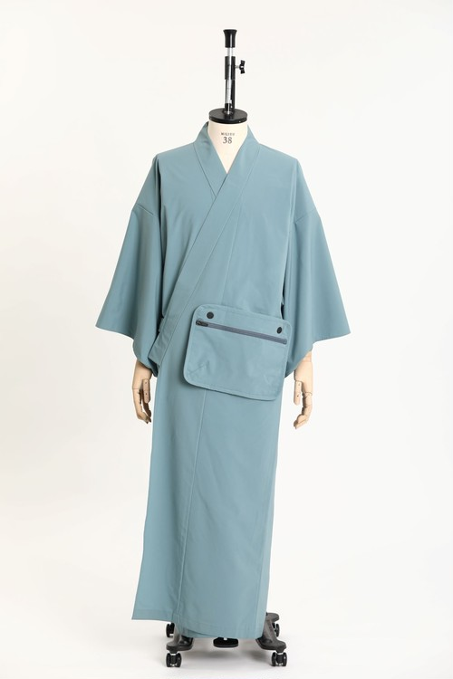 OUTDOOR*KIMONO / DWR Light Weight / Light blue(With tailoring)