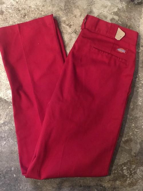 90s ディッキーズ アメリカ製 USA ワークパンツ 赤 レッド